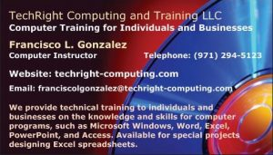 TechRight Computing - Business Card